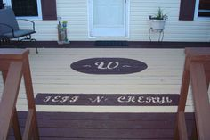Fun idea for staining your deck a little different!