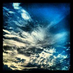 July 4th evening sky.