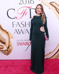 Pin for Later: Olivia Wilde Had the Most Brilliant Reason For Wearing This Cutout Dress to the CFDA Awards