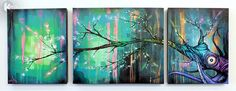 TREE outsider fine art PRINT canvas painting by PureClassArt, $79.99