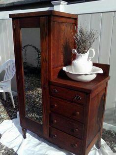 Marstall Furniture Co Henderson KY   Antique Furniture: Chifferobe, screw holes, drawer knobs