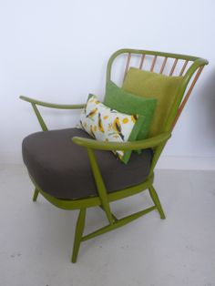Ercol armchair by Firefly House G Plan Furniture, Ercol Furniture, Upscale Furniture, Upcycled Furniture, Painted Chairs, Painted Furniture, Conservatory Chairs, Conservatory Design, Ercol Sofa