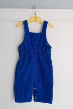 6-9 months: Horse Baby Romper Blue Corduroy Overalls by Petitpoesy