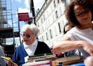 In Paris retirees exchange books. Take as many as you like, just promise never to sell or destroy them.  French Bookstores Are Still Prospering - NYTimes.com
