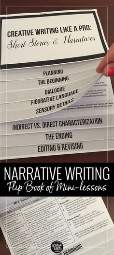 An entire creative writing unit in one flipbook that you can teach with ANY prompt or narrative assignment! Take students through the entire writing process in middle or high school English class.