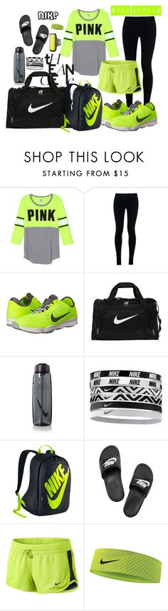 """""""Untitled #121"""" by allofme555 ❤ liked on Polyvore featuring NIKE, women's clothing, women's fashion, women, female, woman, misses and juniors"""