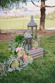 rustic chic lantern wedding decor ideas - Deer Pearl Flowers