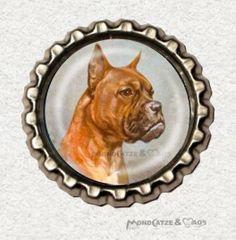 -f057b- Kronkorken Magnet, VINAGE DOG 2, € 2,80 , bottlecap von Mondcatze´s Zauberwerkstatt auf http://de.dawanda.com/shop/Mondcatze