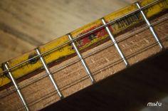 Miku cigar box guitar composite neck