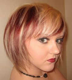 Blonde Hair With Red Shades