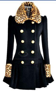 Leopard Splicing Coat  dresslily.com