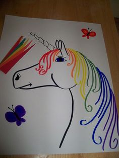 Pin the Horn on the Unicorn Game | Beautiful Cases For Girls
