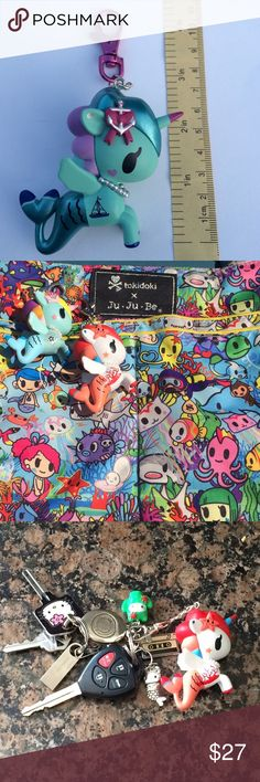 Tokidoki Mermicorno bag charm/ keychain Tokidoki mermicorno blind box vinyl figure turned into an adorable bag charm for your tokidoki, lesportsac, or jujube bags! You'll receive the item in the first picture! tokidoki Bags Baby Bags