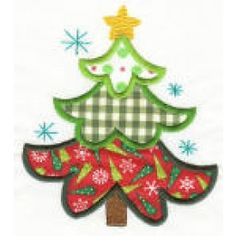 Christmas Patchwork Applique