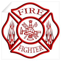 firefighter+stickers | CafePress > Wall Art > Wall Decals > Firefighter Wall Decal