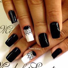 black nail2 Nailart, Nail Designs, Crochet, Black, Nail Art, Nail Ideas, Designed Nails, Dibujo, Matte Nails
