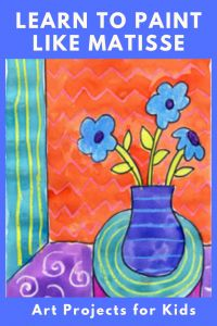 Matisse Inspired Watercolor Painting · Art Projects for Kids art for kids Matisse Inspired Watercolor Painting · Art Projects for Kids Kids Watercolor, Watercolor Projects, Watercolor Paintings, Simple Watercolor, Watercolor Trees, Watercolor Portraits, Watercolor Landscape, Abstract Paintings, Painting For Kids