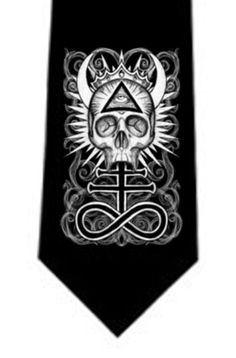 Illuminati Skull tie and other dark offerings by StuffoftheDead, $25.00