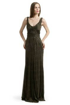 Rent Metallic Twisted Gown by David Meister for $80 only at Rent the Runway.