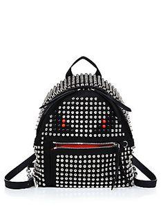 Fendi Monster Mini Studded Nylon Backpack