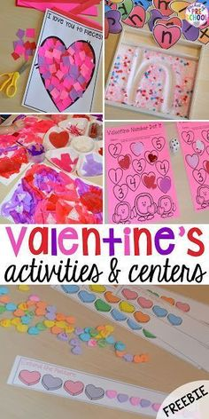 Valentine's Day Themed Centers and Activities - Pocket of Preschool