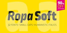 Font dňa – Ropa Soft Pro (zľava 90%, rodina 22,20€) - http://detepe.sk/font-dna-ropa-soft-pro-zlava-90-rodina-2220e/