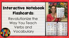Try French or Spanish Interactive Notebook Flashcards and your students will learn verbs and vocabulary in the target language with colorful visuals. Watch this free video to learn what they are and how to use them in French, Spanish class. - World Language Cafe
