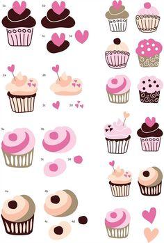Cupcake Decoupage