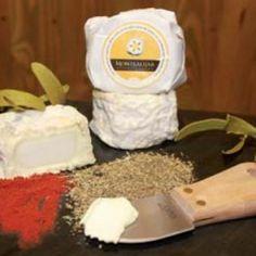 queso Muérdago de Avila Leche cruda de cabra.  Coagulación ácido-láctica.