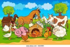 horse animals cow - Stock Image