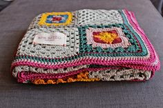HandMade Baby Crochet Blanket With Granny Squares Very by MrMIZO