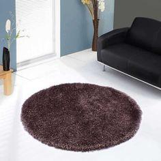 Balotelli Choc Brown Circle Rug By Ultimate Rug Circular Rugs, Circle Rug, Brown Rug, Rugs Online, Shaggy, Modern Rugs, Hand Weaving, Floors, Home Decor