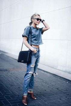 Look total jeans.