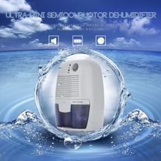 XRow-600A Ultra-mini Semiconductor Dehumidifier Desiccant Moisture Absorbing Air Dryer with Ultra-quiet Peltier Technology Thermo-electric Cooling for Wardrobe US Plug