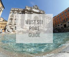 A customizable must-see guide to top attractions in Rome