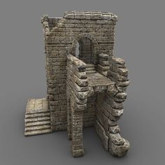 Ruin G Model available on Turbo Squid, the world's leading provider of digital models for visualization, films, television, and games. Warhammer Terrain, 40k Terrain, Wargaming Terrain, Game Environment, Environment Concept Art, Foam Carving, Toy Castle, Castle Ruins, Art Drawings Sketches Simple