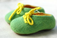 羊毛氈室內鞋Two Layer + Lace -彌月禮 嬰兒鞋 童鞋 最後一雙 - 設計師品牌 raw-ecoproject - Pinkoi