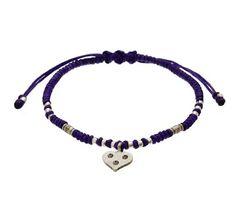 Samasta Purple & Silver Heart Bracelet by John Greed