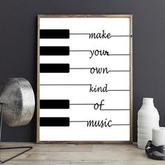 Wood Signs Black White Poster Design Nordic Piano Canvas Art Painting Home Decoration No … Black And White Wall Art, White Walls, Black White, Decorating Your Home, Diy Home Decor, Art Decor, Printable Poster, Plakat Design, Affordable Wall Art