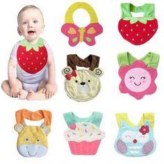 Baby Cute Cartoon Soft Saliva Towel Infant Lunch Bibs