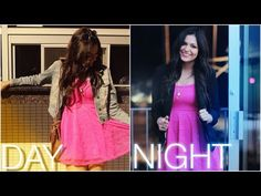 Cute Day to Night Hair, Makeup & Outfit! - MacBarbie07