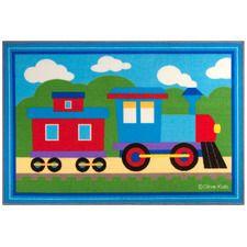 Olive Kids Trains, Planes, Trucks  Area Rug