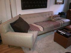 Harvey Probber MCM Rare 1950's 1-arm Angled 10' Sofa on Etsy, $5,000.00