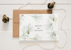 May your days be merry and bright! Spread Christmas cheer to the special folks in your life with this card featuring hand-painted watercolor loblolly