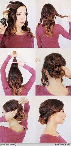Curled updo tutorial