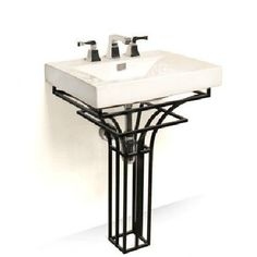 D Vontz Iron Virtus 24  Single Pedestal Bathroom Vanity SetAltan Wrought Iron Vessel Sink Stand   Vessel sink  Wrought iron  . D Vontz Natural Marble Vessel Single Sink Bathroom Vanity Top. Home Design Ideas