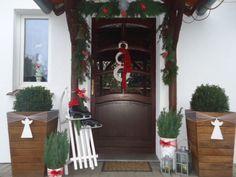 Christmas decorations front door  Xmas 2015