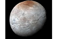 NASA has revealed stunning new images of Pluto's moon Charon, taken by New Horizons, showing vast and varied surface features that hint at a violent h...