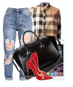 """""""August 20th"""" by jazmine-thegreat ❤ liked on Polyvore featuring Burberry, Givenchy and Christian Louboutin"""