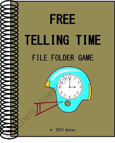 FREE Football Telling Time File Folder Game product from promotingsuccess on TeachersNotebook.com